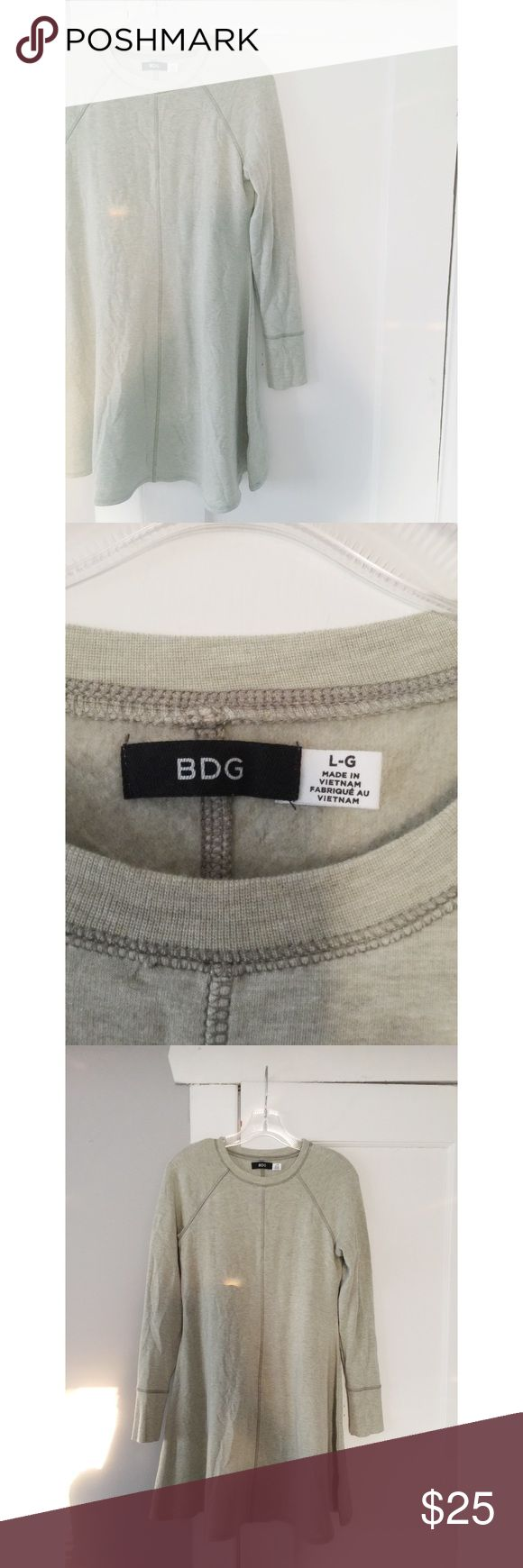 """Urban Outfitters """"BDG"""" Sweatshirt Tunic Urban Outfitters """"BDG"""" Sweatshirt Tunic.  Light moss green in color.  Great condition.  Women's size large. Urban Outfitters Tops Tunics"""