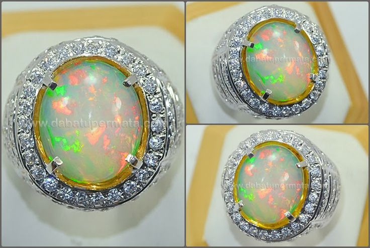 Sparkling Colour Play OPAL/KALIMAYA Crystal TOP. Code:OP 029 Nama:OPAL/KALIMAYA Asal/Origin:Ethiopia/ Banten Berat Batu:4.43 ct Berat Total:16.2 gr Size/Ukuran:15.6 x 13.1 x 5 mm