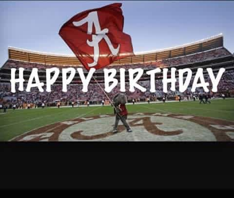 Alabama Crimson Tide Birthday Images Alleghany Trees