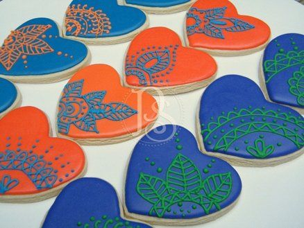 mehndi inspired cookies | Mehndi-inspired wedding cookies - by PumsSweets @ CakesDecor.com ...
