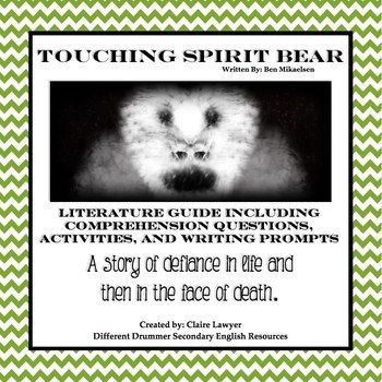 best touching spirit bear ideas book projects  this is a complete literature guide for the book touching spirit bear it contains thoughtful