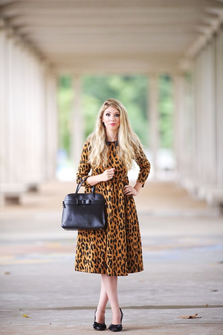 Modest Modern Fashion / That Leopard Dress / Dainty Jewell's is your one-stop shop for weddings, bridesmaid dresses, and all things ruffles and lace! www.daintyjewells.com  #daintyjewells