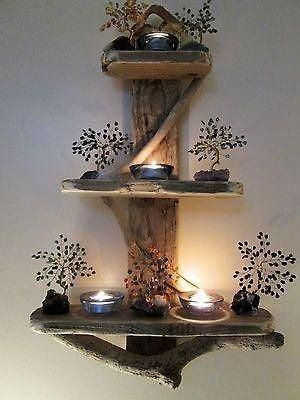 Charming Unique Driftwood Anchor Shelves Solid Rustic Shabby Chic Nautical by gr… – Frank Heitzer