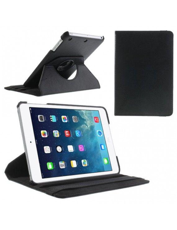 Περιστρεφόμενη Δερμάτινη Θήκη Βιβλίο με Βάση Στήριξης για iPad Mini / iPad Mini 2 - Μαύρο