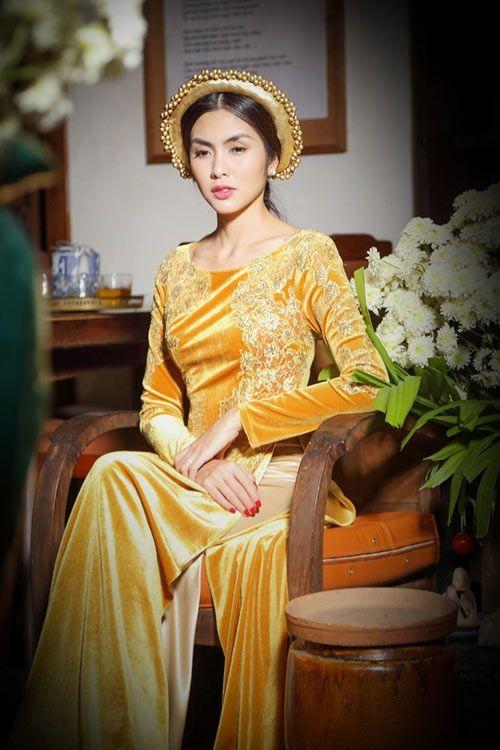 Sao Việt duyên dáng với áo dài khăn đóng | Thời trang châu