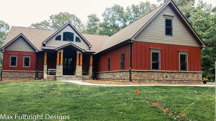 3 car garage lake house plan - lake home designs | mountain house