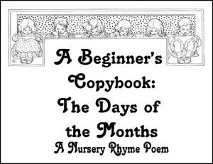 Free A Beginner's Copybook: The Days of the Months