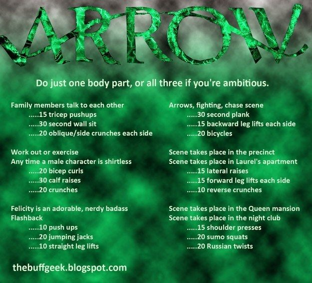 Arrow   43 Workouts That Allow You To Watch An Ungodly Amount Of Television