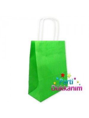 Yeşil Kağıt Çanta (18x24 cm)
