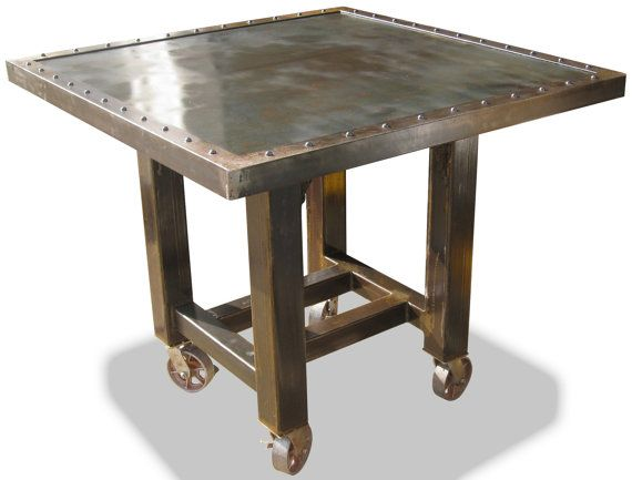 Awesome Industrial Steel Counter Height Pub Table By FungShenIndustrial