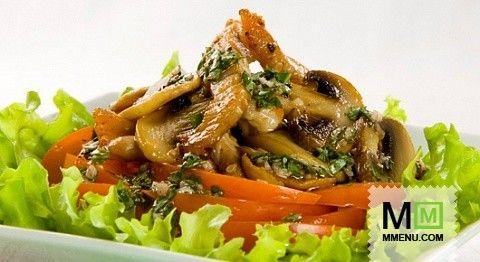 Салат из свинины с кунжутом