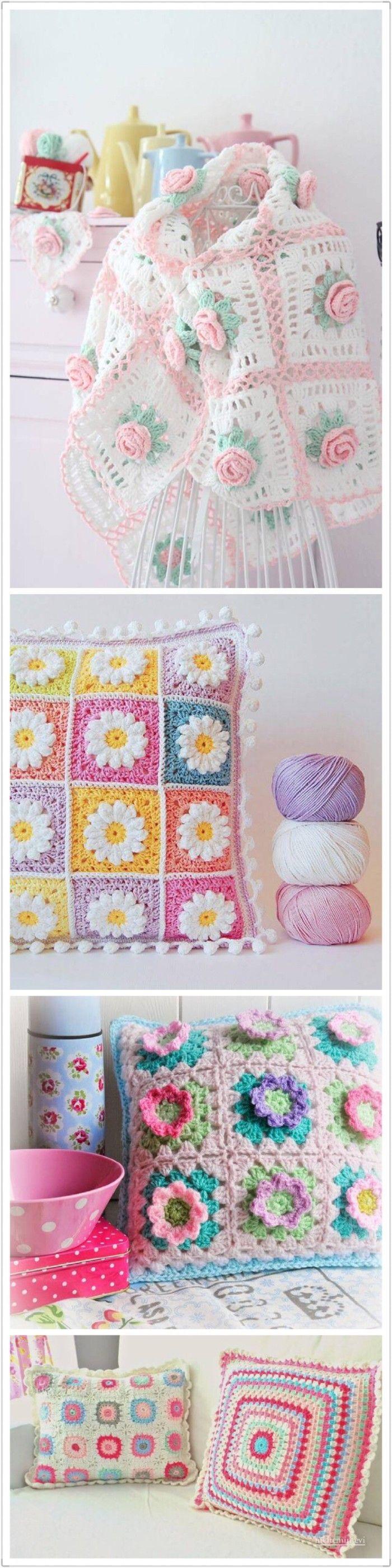 Mejores 24 imágenes de crochet en Pinterest | Patrones de punto ...