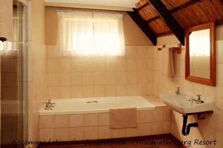 Bathroom at Hlalanathi Berg Resort. http://www.accommodation-in-southafrica.co.za/KwaZuluNatal/Bergville/Hlalanathi.aspx