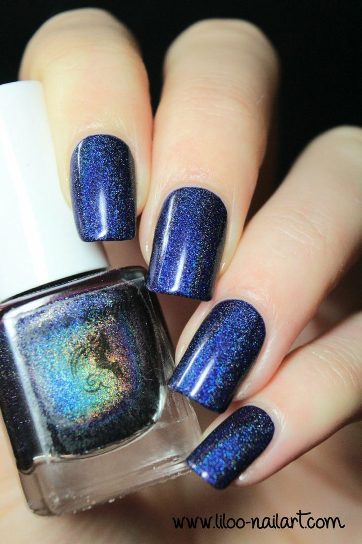 starry night of the summer summer 2014 holo polish by fun lacquer liloo nail art