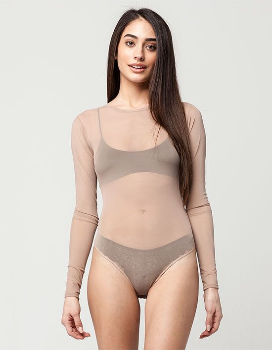 $19 FULL TILT Mesh Womens Bodysuit