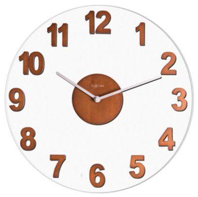Woody brown wall clock 39cm