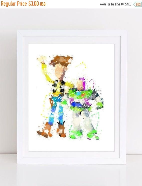 60%OFF watercolor woody print toy story watercolor