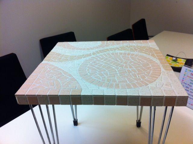 One fine mosaic table 40 x 40 cm.