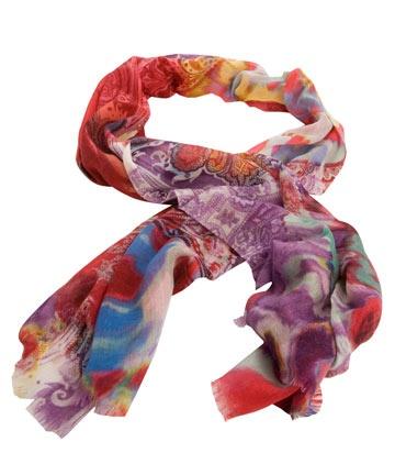 Pink Tie Dye Crazy Paisley Cashmere Scarf - Etro