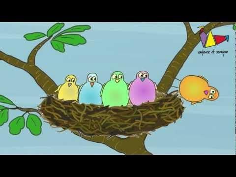 Ils étaient 5 dans le nid - comptine (Enfance et Musique)