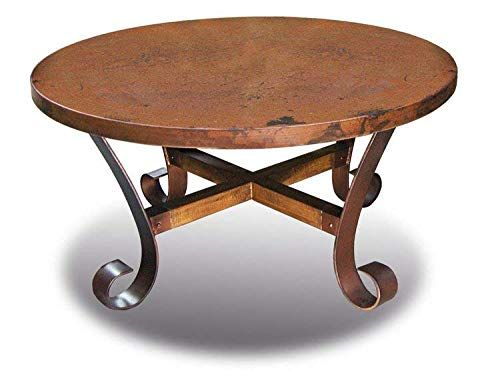 Ridge Round Copper Coffee Table Fully Assembled Copper Coffee