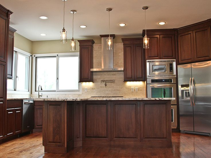 Formal Kitchen Clear Poplar With A Dark Walnut Stain