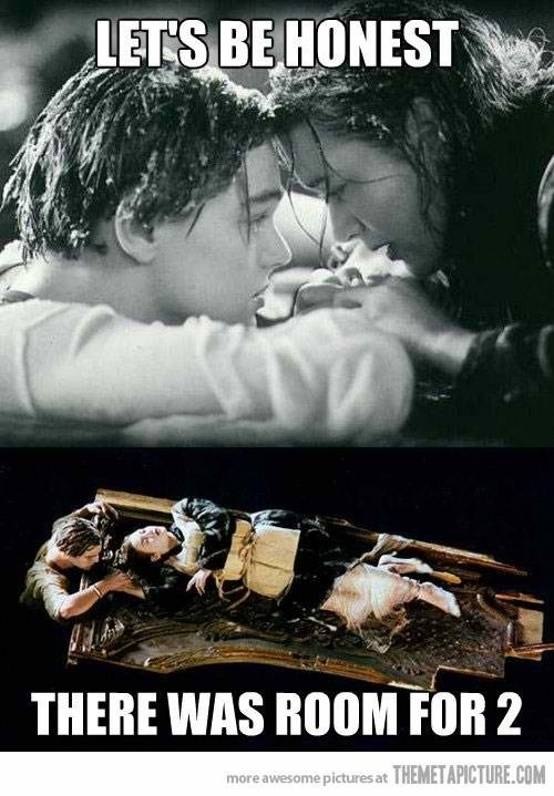 Ok Since no one else is talking about it, and you can see Titanic in 3D THERE WAS ROOM!