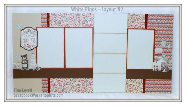 Scrapbooking Kits: White Pines 6 Page Scrapbooking Kit - $22