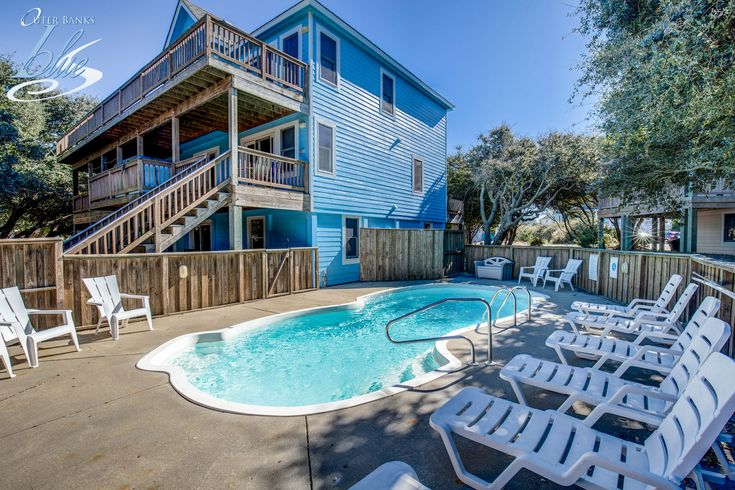 Lazy Dayz is new to Inventory for 2018! 7 bedrooms, 5.1 bathrooms, Rates from $1,575 to $5,990 May through September. - Duck Vacation Rental- Outer Banks Blue - Outer Banks Vacation Rental