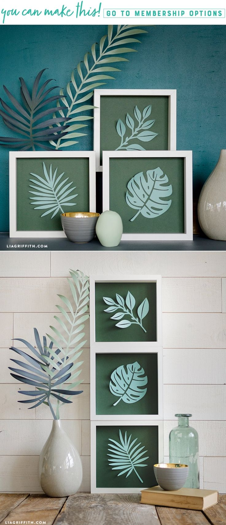 Picture Perfect Paradise  You fell in love with our papercut botanical poster so we're taking you back to the tropics with these super simple framed paper-cut tropical leaves. Would you believe this project is only 4 steps?! Craft them with us today https://liagriffith.com/framed-papercut-tropical-leaves/ * * * #tropical #tropicalhouse #tropicalvibes #diy #diyproject #simplediy #easydiy #botanical #diyhome #diydecor #diydecorations #jungle #paper #papercut #paperart #paperproject #diyidea…