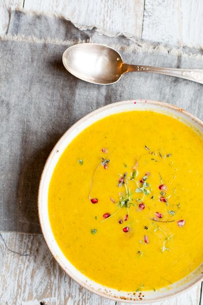 Carrot and Coconut soup #madeleineshaw #gettheglow