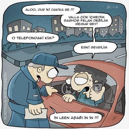 Alkol Kontrolü Karikatürü Onur Kök | Karikatürname