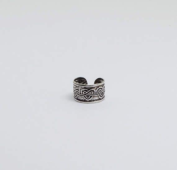 Heart Oxidized Ear Cuffs, No Piercing Earrings, Sterling Silver Ear Cuffs, Cuff and Wrap Sterling Silver Earrings