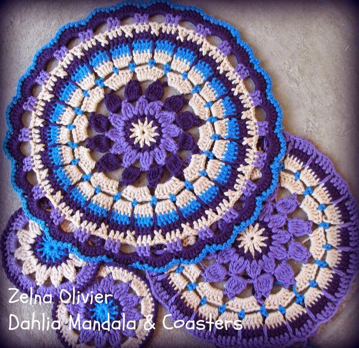 crochet mandala Tutorial ✭Teresa Restegui http://www.pinterest.com/teretegui/ ✭