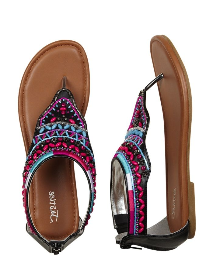 Cute Shoes at Justice for Girls | Girls Clothing | Sandals | Beaded Hood Sandals | Shop Justice