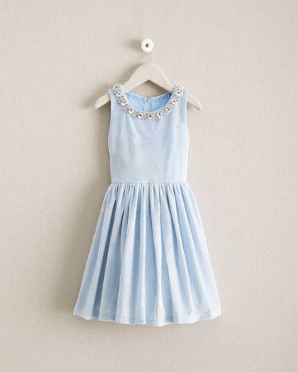 Girls Velvet Necklace Dress