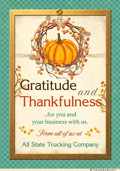 23 best business holiday card designs images on pinterest card pumpkin wreath thankful business holiday card colourmoves