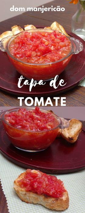 entrada típica da Espanha esse tapa de tomate é delicioso e muito simples de preparar