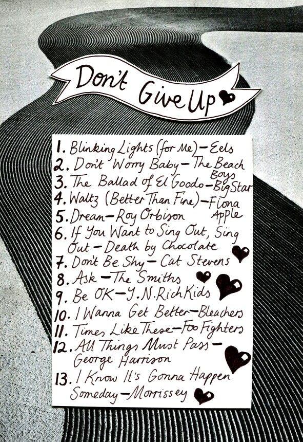 Liste der inspirierenden Lieder