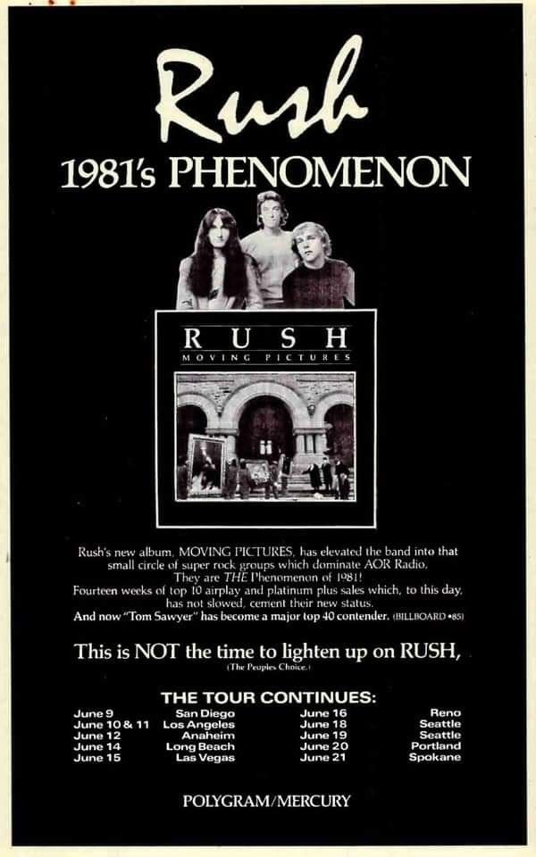 Pin By Mrk Bstmnt On Rush In 2020 Rush Band Concert Posters Rock Music