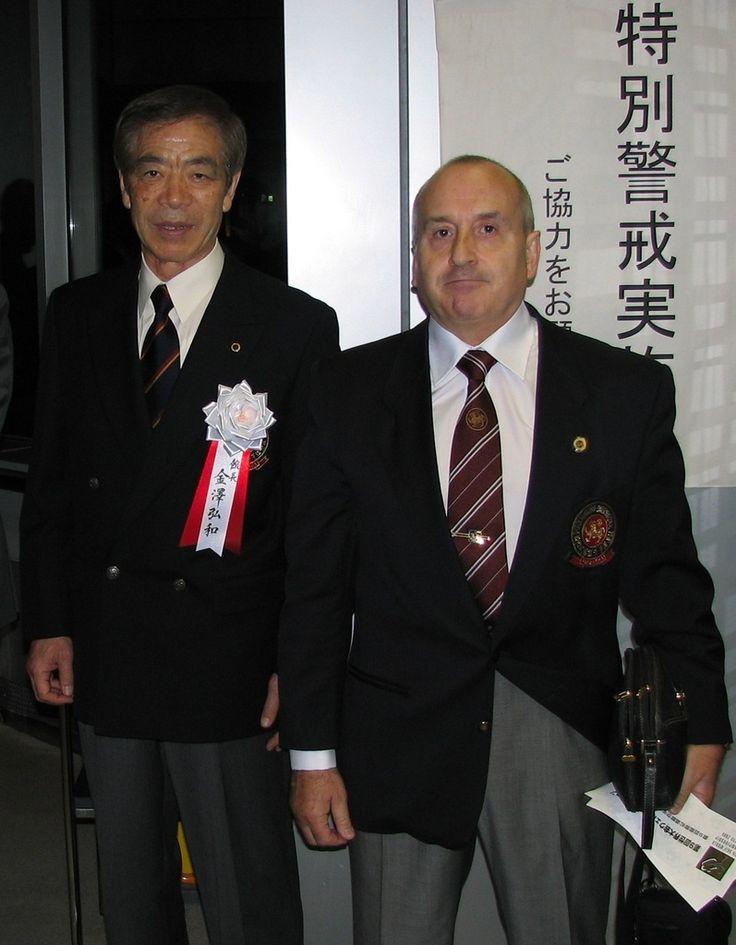 Soke Hirokazu KANAZAWA et Hanshi FABRE lors des championnats du monde S.K.I.F 2006 à Tokyo