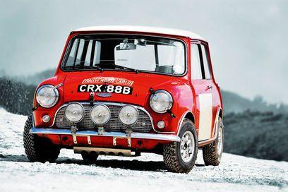 CRX 88 B,.. Mini Cooper S .. 1965 Monte Carlo Rally .. Aaltonen / Ambrose car .. D.N.F.