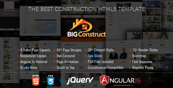 Big Construct - Construction Building Company by hiwptheme