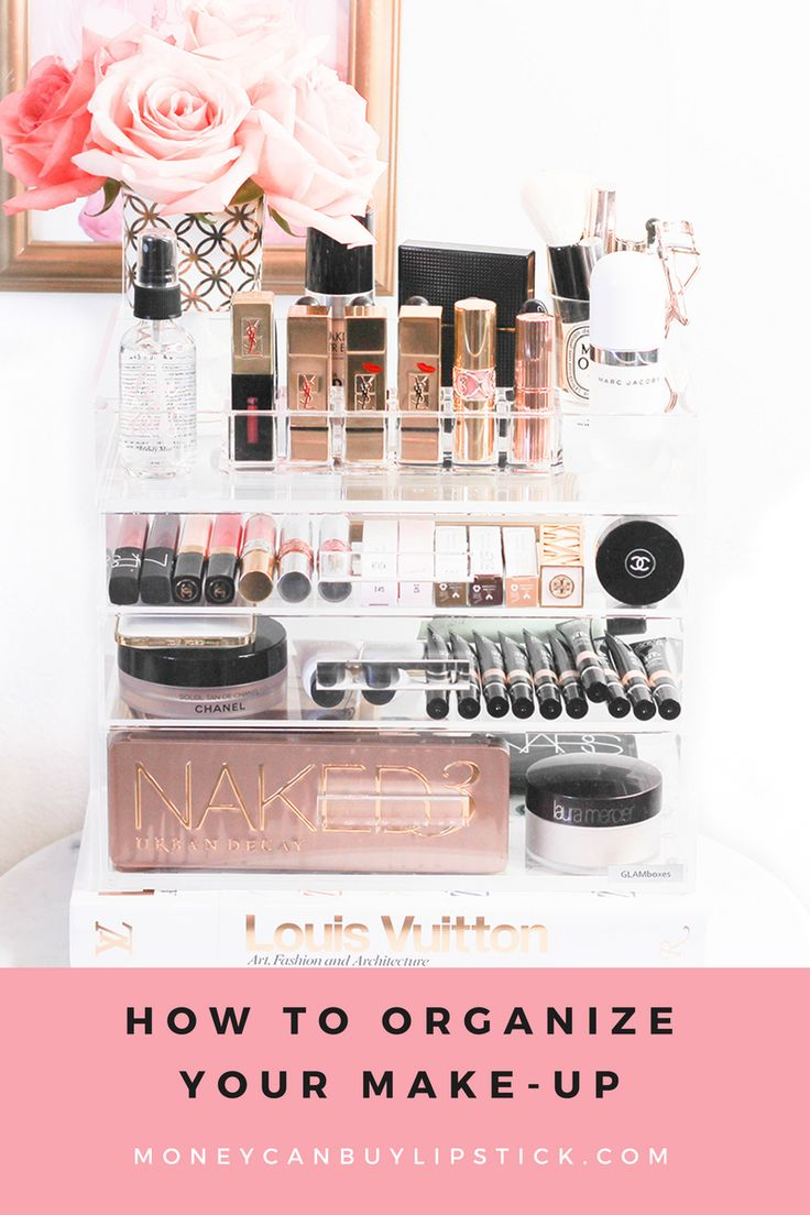 How To Organize Your Makeup Collection   Makeup and beauty organization   Acrylic makeup organizer   Glamboxes