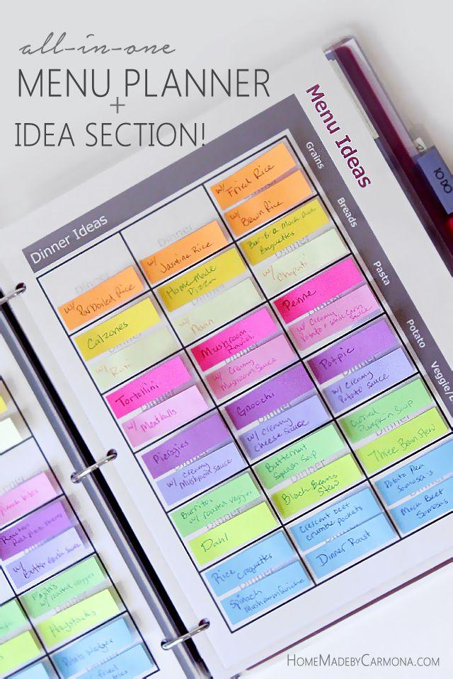 The Ultimate Menu Planner! Free printables!