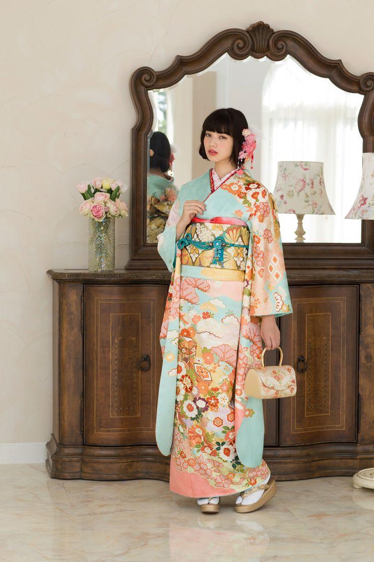 Japanese kimono. Model,.Nana Komatsu