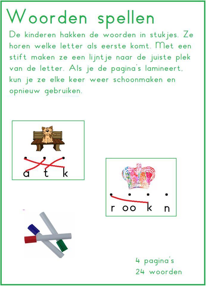 Woorden spellen, thema 2