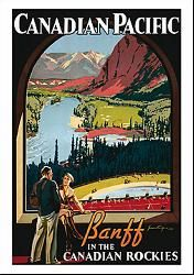 Canadian Pacific vintage print - Banff In The Canadian Rockies