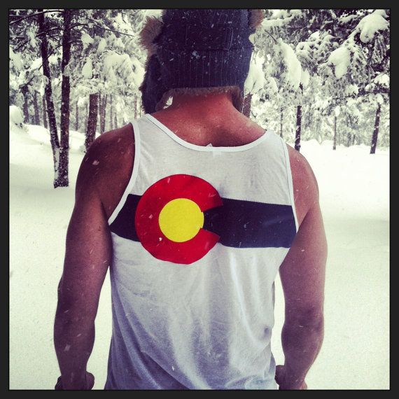 Colorado Flag Custom Tank Top White- 3 layer fabric flag Christmas gift on Etsy, $30.00