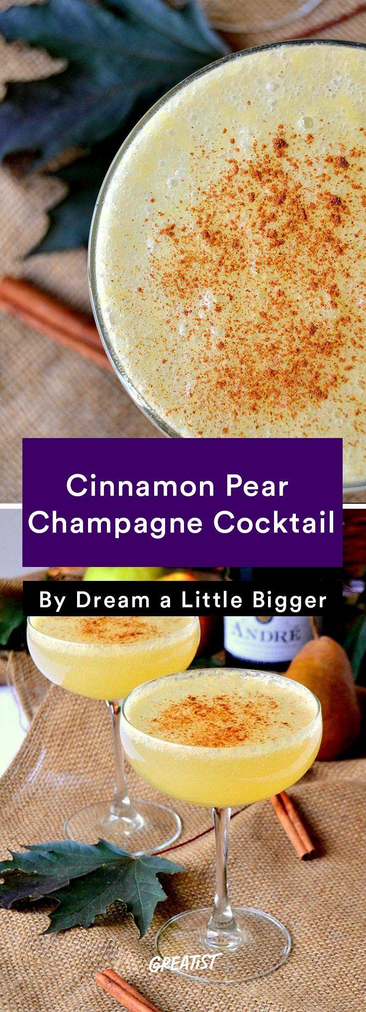 Cinnamon Pear Champagne Cocktail Recipe